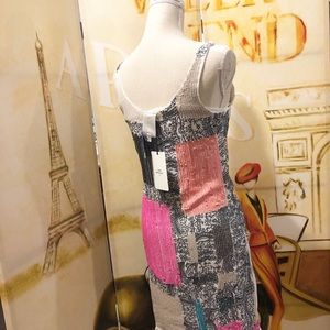 Sleeveless multicolor dress